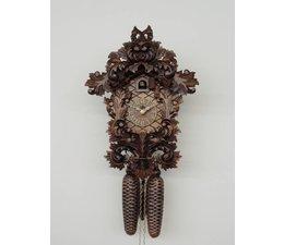 Hettich Uhren Orginal im Schwarzwald  handgefertigte Kuckucksuhr 33cm hoch und 23 cm breit  mit hangefertigter  Schnitzerei