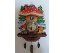 Hettich Uhren Koekoeksklok met echte quartz uurwerk vFliegenpilz decor