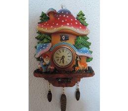 Hettich Uhren Reloj de cuco con funcionamiento real movimiento de cuarzo tamaño de 16 cm de alto y 13 cm de ancho