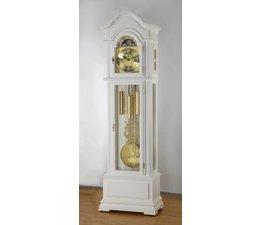 Hettich Uhren 47 staande klok wit geschilderd Hermle kettingaandrijving 3 nummers in het Zwarte Woud gemaakt Afmetingen: 208x65x35cm