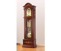 Hettich Uhren Exclusive Standuhr Nr.45 nußbaum lackiert mit Intarsien Einlegearbeiten im Schwarzwald hergestellt