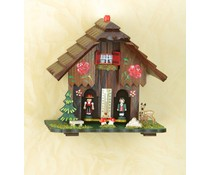 Trenkle Uhren Weather house No. 811 handpainted made 18cm high in the Black Forest