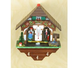 Trenkle Uhren Chalet météo dans la Forêt Noire fabriqué à partir de bois, les chiffres montrent le temps et alors comment une maison de temps: le temps intérieur de chalet un cordage en boyau, ce qui change dans l'humidité de l'air change reagiert.Dabei est-il