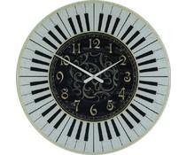 Hettich Uhren Sehr exclusive verarbeitete Wohn Design Uhr Klavier Design 60cm Glas mit Quarzwerk Nr4404
