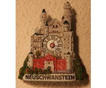 Hettich Uhren Kuckucksuhr Neuschwanstein Motiv mit echtem Quarzwerk mit Magnet