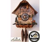 Hettich Uhren Kuckucksuhr 23cm mit 1 Tag mechanischem Rechenschlagwerk mit Bambi