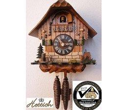 Hettich Uhren Sehr schönes Schwarzwaldgehäuse mit Bambi
