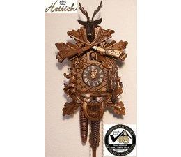 Hettich Uhren Sehr schöne handgefertigte Kuckucksuhr 25cm hoch 19cm breit