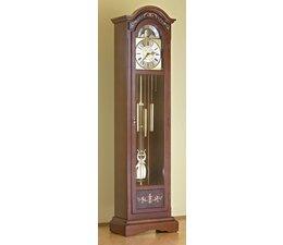 Hettich Uhren 81-50 orologio del nonno di noce verniciato lavoro Hermle Westminster con intarsi intarsi Dimensioni 192x52x30cm