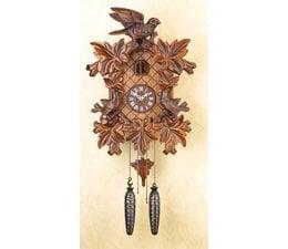 Trenkle Uhren Wunderschöne  tiefgeschnitzte Kuckucksuhr 40cm  im Schwarzwald hergestellt mit Quarz-Laufwerk und Kuckuckruf mit Lichtsensor unter dem Zifferblatt ,sobald es dunkel wird schaltet der Kuckuckruf ab