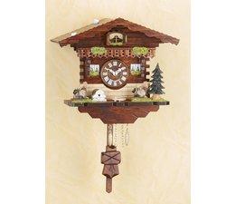 Trenkle Uhren Kuckucksuhr 18 cm  im Schwarzwald hergestellt mit Quarz-Laufwerk und Kuckuckruf mit automatischer Nachtabschaltung
