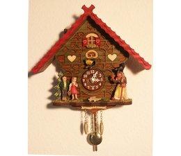 Trenkle Uhren Kuckucksuhr 17cm  im Schwarzwald hergestellt mit Quarz-Laufwerk und Kuckuckruf mit automatischer Nachtabschaltung