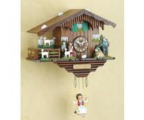 Trenkle Uhren Kuckucksuhr 17 cm mit Heidifiguren bestückt und Quarzwerk mit automatischer Nachtabschaltung
