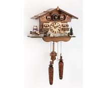 Trenkle Uhren Kuckucksuhr 27cm mit Quarzwerk und Lichtsensor und beweglichen Tanzfiguren