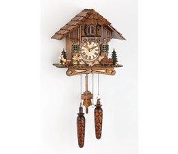 Trenkle Uhren Wunderschöne   Kuckucksuhr 25cm mit Holzschindeldach  im Schwarzwald hergestellt mit Quarz-Laufwerk und Kuckuckruf mit Lichtsensor unter dem Zifferblatt ,sobald es dunkel wird schaltet der Kuckuckruf ab