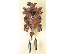 Trenkle Uhren Koekoeksklok 35cm met handgemaakt snijwerk met quartz uurwerk en lichtsensor