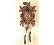 Trenkle Uhren Orologio a cucù 35cm con intaglio artigianale con movimento al quarzo e sensore di luce