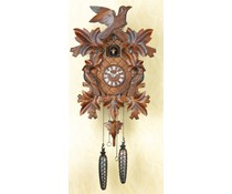 Trenkle Uhren Kuckucksuhr 40cm mit handgefertigter Schnitzerei mit Quarzwerk und Lichtsensor