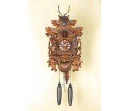 Trenkle Uhren Wunderschöne  tiefgeschnitzte Kuckucksuhr 35cm  im Schwarzwald hergestellt mit Quarz-Laufwerk und Kuckuckruf mit Lichtsensor unter dem Zifferblatt ,sobald es dunkel wird schaltet der Kuckuckruf ab
