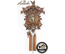 Hettich Uhren Orginal Schwarzwälder nostalgische  Kuckucksuhr mit 8 Tage Rechenschlagwerk 45cm hoch und 35 cm breit