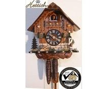 Hettich Uhren Kuckucksuhr 23cm mit 1 Tag mechanischem Rechenschlagwerk und beweglichem Wanderer