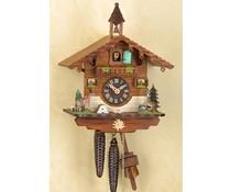 Trenkle Uhren Kuckucksuhr 29cm mit 1 Tag mechanischem Rechenschlagwerk 1504
