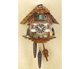 Trenkle Uhren Sehr schöne handgefertigte Kuckucksuhr 25cm hoch mit echtem Holzschindeldach