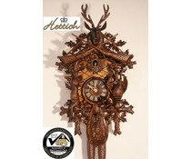 Hettich Uhren Original Black Forest Cuckoo Clock with Hunting Motif 8-day rack strike movement 65cm high