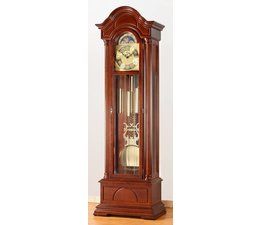 Hettich Uhren Exclusive Standuhr Nr.35-50 nußbaum lackiert im Schwarzwald hergestellt Maße:208x65x35cm mit 3- Melodienschlagwerk