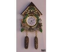 Hettich Uhren Orologio a cucù con un autentico movimento al quarzo con magnetico