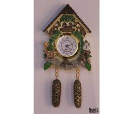 Hettich Uhren Imán del reloj de cuco con funcionamiento real del movimiento del cuarzo Tamaño 13cm de altura y 7 cm de ancho