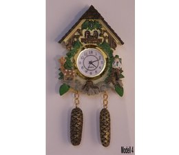 Hettich Uhren Magnete Orologio a cucù con funzionamento reale movimento al quarzo Dimensioni 13 centimetri e alta 7 centimetri largo