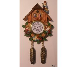 Hettich Uhren Kühlschrankmagnet Kuckucksuhr mit echt funktionierendem Quarzwerk Größe 13cm hoch und 7cm breit