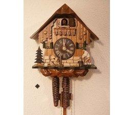 Hettich Uhren Sehr schönes Schwarzwaldgehäuse mit beweglichem  Holzhacker