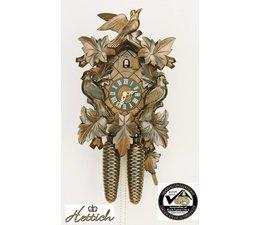 Hettich Uhren Sehr schöne im Schwarzwald handgefertigte Kuckucksuhr 35cm hoch mit hangefertigte Schnitzerei - Copy