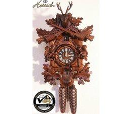Hettich Uhren Sehr schöne im Schwarzwald handgefertigte Kuckucksuhr 40cm hoch mit handgefertigte Schnitzerei