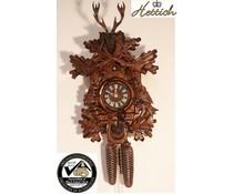 Hettich Uhren Orginal Schwarzwälder Kuckucksuhr mit 8 Tage Rechenschlagwerk 40cm Jagdstück-Motiv - Copy