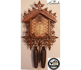 Hettich Uhren Orginal im Schwarzwald handgefertigte Kuckucksuhr mit handgefertigter Schnitzerei 34cm hoch und 26cm breit - Copy