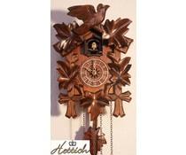 Hettich Uhren Kuckucksuhr 23cm mit mit Quarzwerk und automatischer Nachtabschaltung mit 12 verschiedene Melodien - Copy