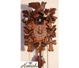 Hettich Uhren Kuckucksuhr mit Quarzwerk 23cm hoch und 18cm breit mit 12 verschiedene Melodien Kuckuck ruft stündlich Kuckuck z.B. 10 Uhr ruft er 10x Kuckuck der Kuckucksruf wird durch ein Echo und ein Wasserfallgeräusch im Hintergrund ef
