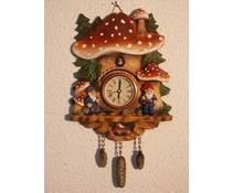 Hettich Uhren Mushroom clock with real quartz movement with model No.11 - Copy - Copy