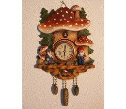 Hettich Uhren Pilzhruhr con movimiento de cuarzo de tamaño real 18 cm de alto y 14 cm de ancho - Copia - Copia