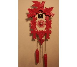 Trenkle Uhren Beautiful deep carved cuckoo clock in the Black Forest 35cm made with quartz movement and cuckoo chime with light sensor under the dial as soon as it gets dark turns the cuckoo from - Copy