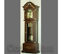 Hettich Uhren Exclusive Standuhr Nr.41 nußbaum lackiert mit Intarsien Einlegearbeiten im Schwarzwald hergestellt Maße:222x71x38cm - Copy - Copy