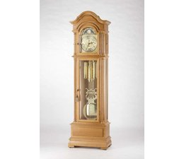 Hettich Uhren 47 orologio a pendolo dipinto di bianco trasmissione a catena Hermle 3 brani nella Foresta Nera realizzati Dimensioni: 208x65x35cm - Copy