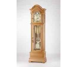 Hettich Uhren 47 reloj de pared pintada de blanco transmisión por cadena Hermle 3 canciones en el Bosque Negro hechas Dimensiones: 208x65x35cm - Copy