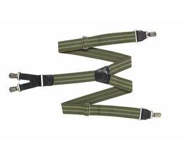 HENDRIK Hosenträger grün mit schwarzem Streifen