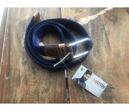 MARTIJN Elastische riem MARTIJN donkerblauw 120 cm