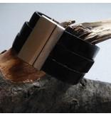 Lederband rot, flach - 10 mm