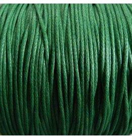1 Meter Baumwollband - 1 mm grün